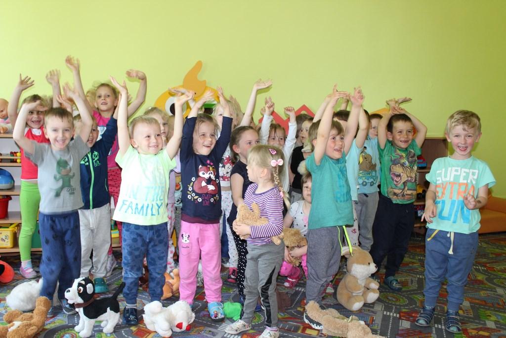 Wielka radość dzieci zBajkowego Przedszkola wCybince