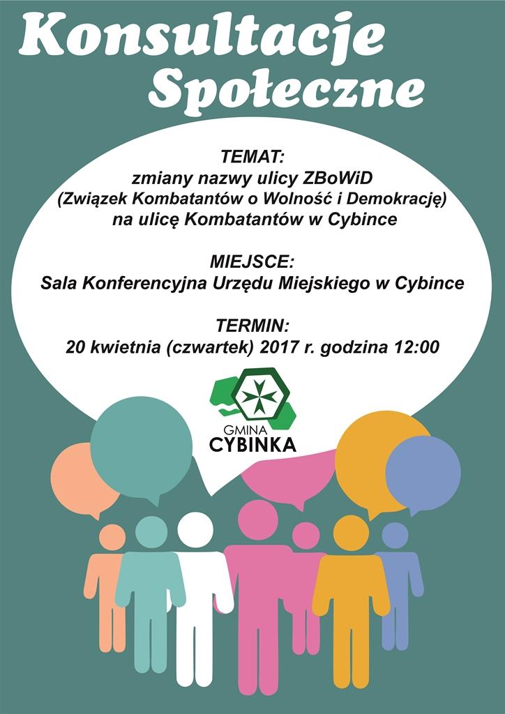 Konsultacje Społeczne wsprawie przeprowadzenia zmiany nazwy ulic - Cybinka